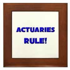 Actuaries Rule! Framed Tile