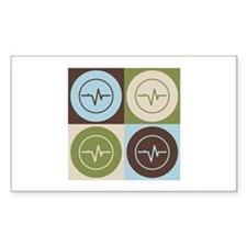 Biomedical Engineering Pop Art Rectangle Decal