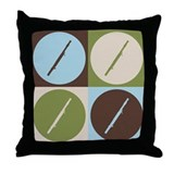 Bassoon Pop Art Throw Pillow