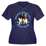 Proudly Owned Basset Hound Women's Plus Size V-Nec