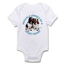 Proudly Owned Basset Hound Infant Bodysuit