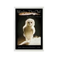 Baby WesleyTheOwl Titled Rectangle Magnet