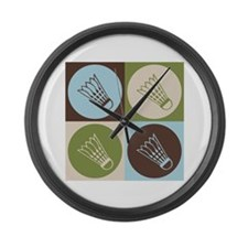 Badminton Pop Art Large Wall Clock