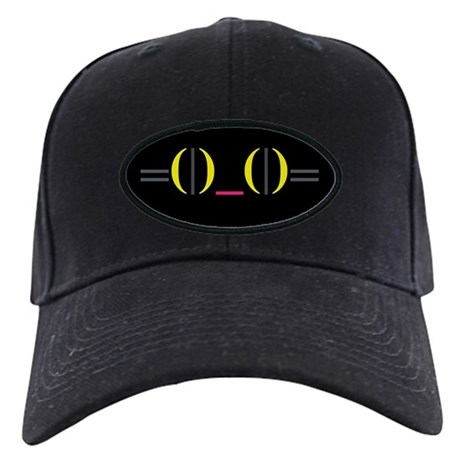 Smiley Kitty Emoticon Black Cap