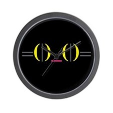 Smiley Kitty Emoticon Wall Clock