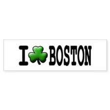 I Shamrock Boston - Bumper Bumper Sticker