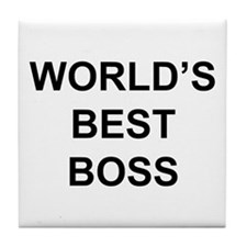 """World's Best Boss"" Tile Coaster"