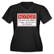 Notice / Librarians Women's Plus Size V-Neck Dark