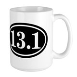 13.1 Half Marathon Oval Coffee Mug