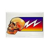 Lightning Skull Rectangle Magnet