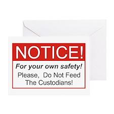 Notice / Custodians Greeting Card
