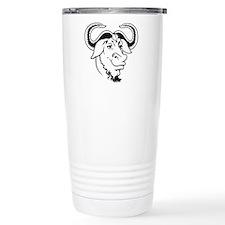 GNU Ceramic Travel Mug