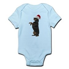 Santa Rottweiler Infant Bodysuit