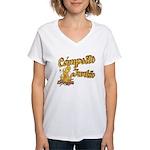 Campsite Junkie Women's V-Neck T-Shirt