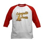 Campsite Junkie Kids Baseball Jersey