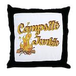 Campsite Junkie Throw Pillow