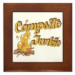 Campsite Junkie Framed Tile