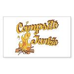 Campsite Junkie Rectangle Sticker