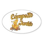 Campsite Junkie Oval Sticker