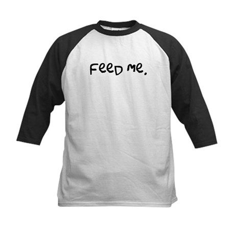 feed me. Kids Baseball Jersey
