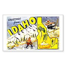 Idaho State Greetings Rectangle Decal