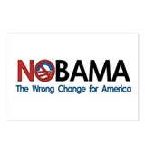 Anti-Obama NOBAMA Postcards (Package of 8)