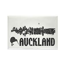Auckland Skyline Vintage Rectangle Magnet