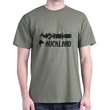 Auckland Skyline Vintage T-Shirt