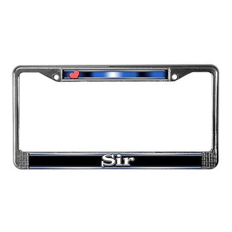Sir License Plate Frame