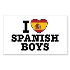 I Love Spanish Boys Rectangle Decal