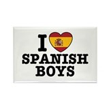 I Love Spanish Boys Rectangle Magnet