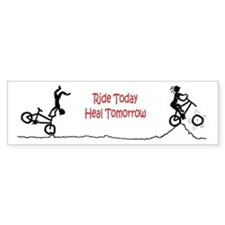 Mountain Biking Ride Today Bumper Bumper Sticker
