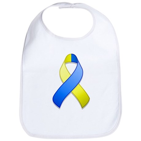 Blue and Yellow Awareness Ribbon Bib
