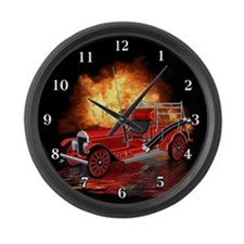 1920 Type 75 Pumper Fire Truck Large Wall Clock