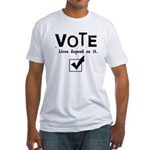 Vote: Lives Depend on It Fitted T-Shirt