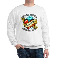 Tourette's Tattoo Heart Sweatshirt