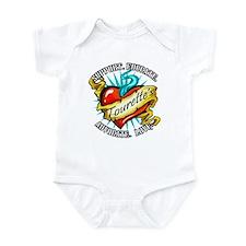 Tourette's Tattoo Heart Infant Bodysuit