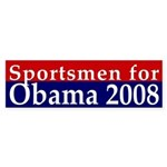 Sportsmen for Obama 2008 bumper sticker