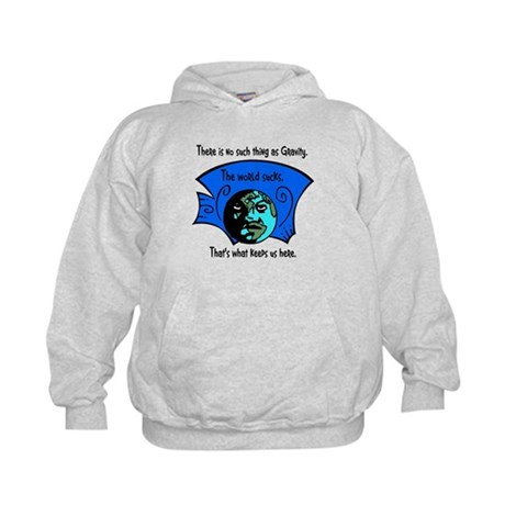 No Gravity The World Sucks Kids Hoodie