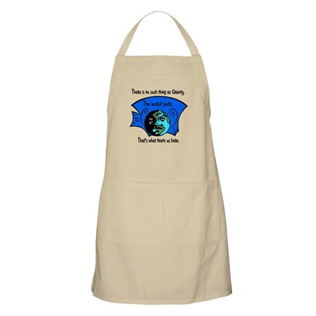 No Gravity The World Sucks BBQ Apron