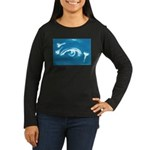 Eye Key Women's Long Sleeve Dark T-Shirt