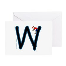 W (Boy) Greeting Cards (Pk of 10)
