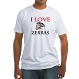 I Love Zebras Shirt