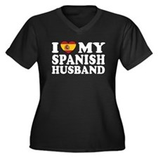 I Love My Spanish Husband Women's Plus Size V-Neck