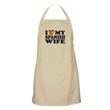 I Love My Spanish Wife BBQ Apron