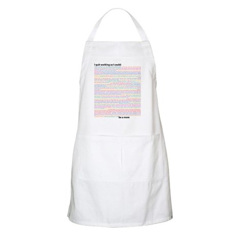 """Non-Working"" Mom BBQ Apron"