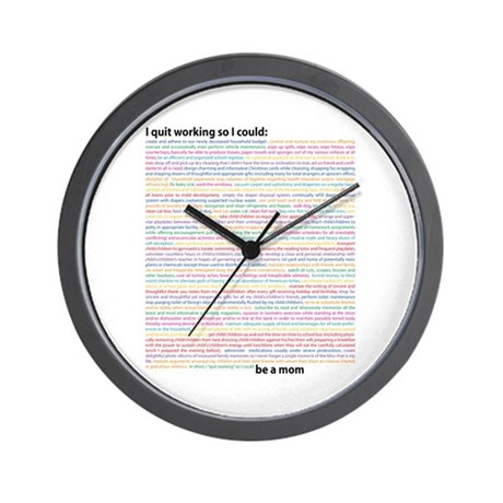 """Non-Working"" Mom Wall Clock"