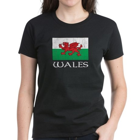 Wales Flag Women's Dark T-Shirt