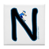 N (Boy) Tile Coaster