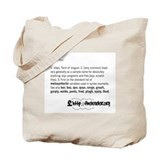 Foo Definition Tote Bag